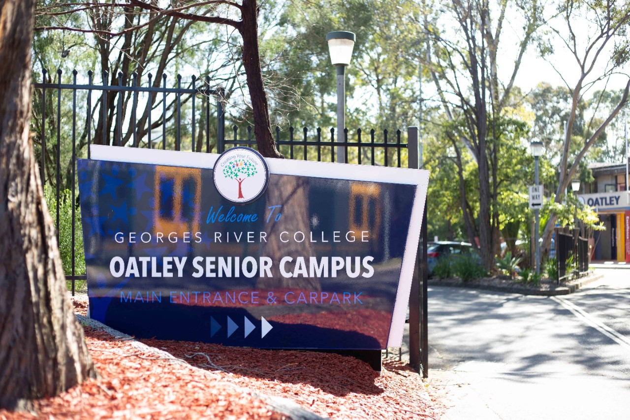 Oatley Senior Campus entrance.