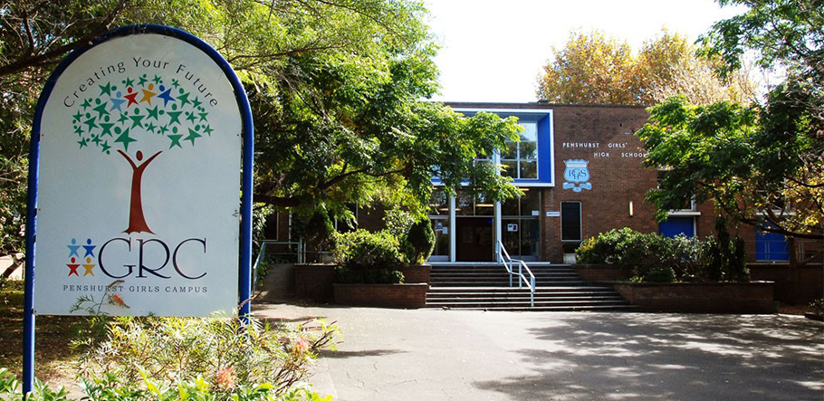 Penshurst Girls Campus entrance.
